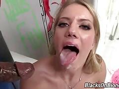 Horny Black Dudes Share White Slutie 4