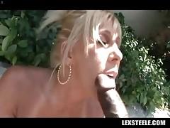 Breasted Mature Blonde Tastes Black Rod 2