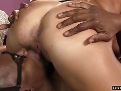 Layla Price Seduced By Her Step-Brothers` Big Black Cock!