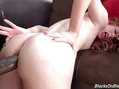 Madelyn Rose Gets Ass Stretched With Black Rod 1