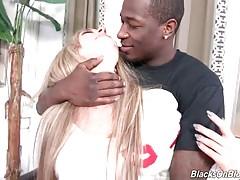 Sexy Madelyn Monroe Slurps Big Black Dick 1