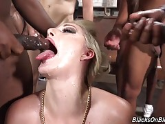 Nasty little white chicks swallowing the thickest black meats in order to get a ride. They're desperate for some transportation, so they'll do just about anything that they have to to hitch a ride. See these sweeties with thick chocolate cock in their ass