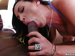 Nikki Benz swallows that big black snake