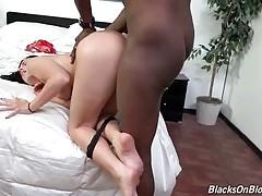 Tough Black Guy Attacks Sexy Brunette 3