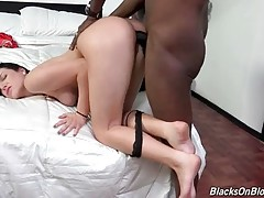 Tough Black Guy Attacks Sexy Brunette 2