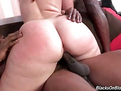 Two Black Guys Share Booty White Chick 3