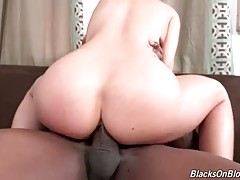 Petite Blonde Gets Insane Black Dick In Her Ass 1